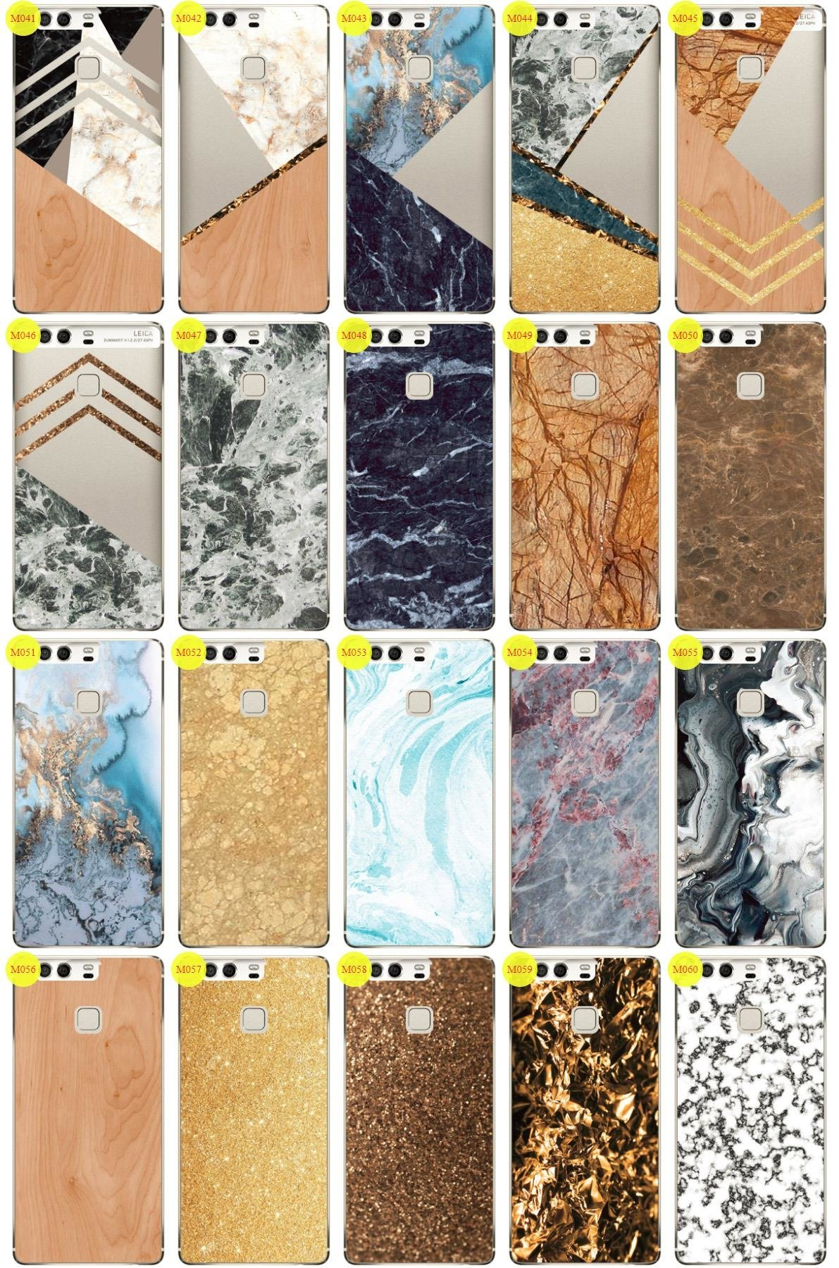 Case Cover Overprint Kreatui MARBLE HUAWEI P9 PLUS + GLASS 9H