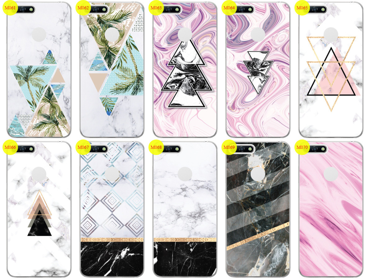 new product 12dd9 b32d2 Case Cover Overprint Kreatui MARBLE HUAWEI Y6 2018