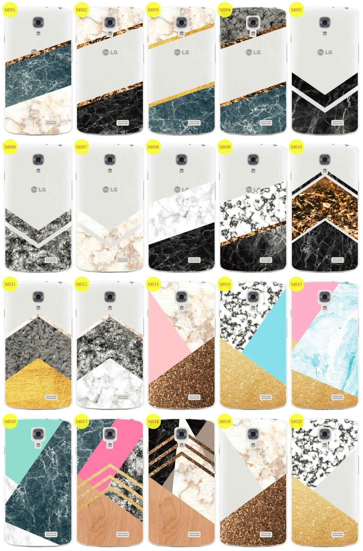 Case Cover Overprint Kreatui MARBLE LG F70 + GLASS 9H