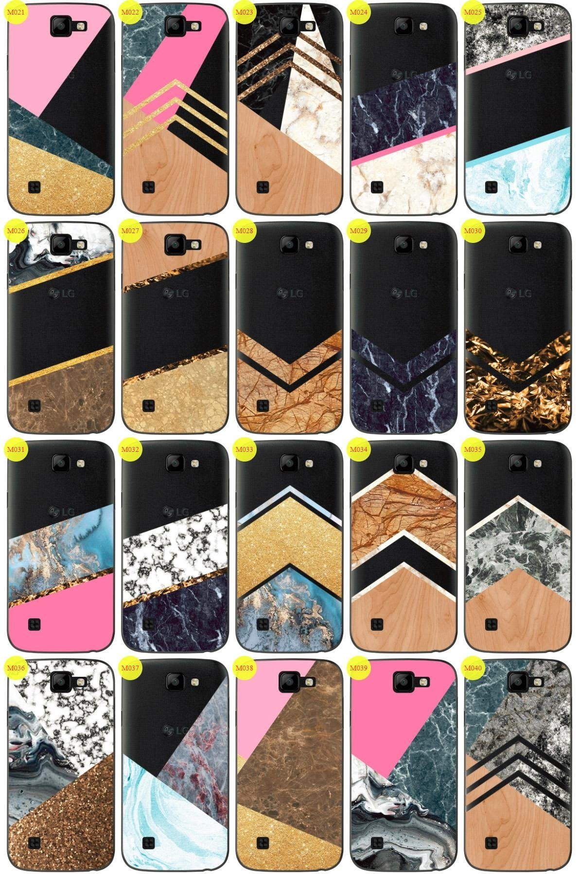 Case Cover Overprint Kreatui MARBLE LG K3 + GLASS 9H