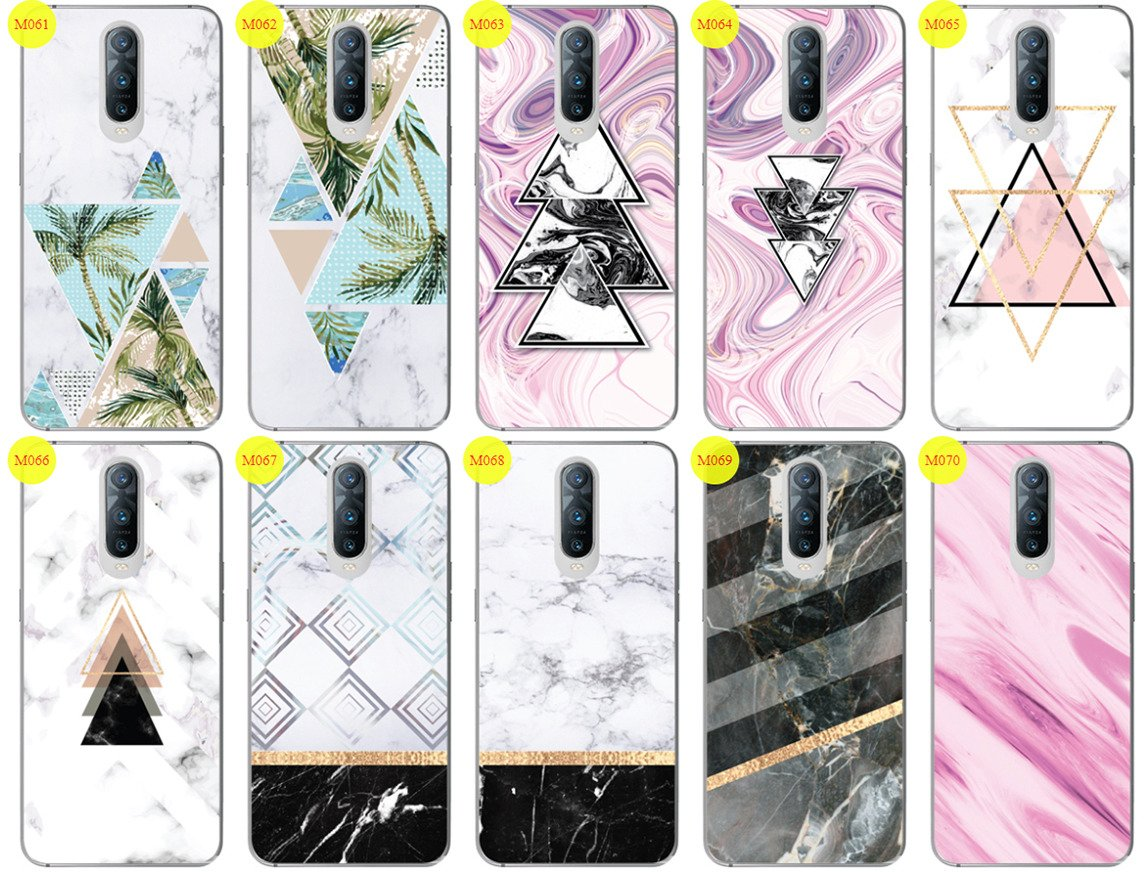 best website 3f3bd cf3b4 Case Cover Overprint Kreatui MARBLE OPPO RX17 PRO + GLASS 9H