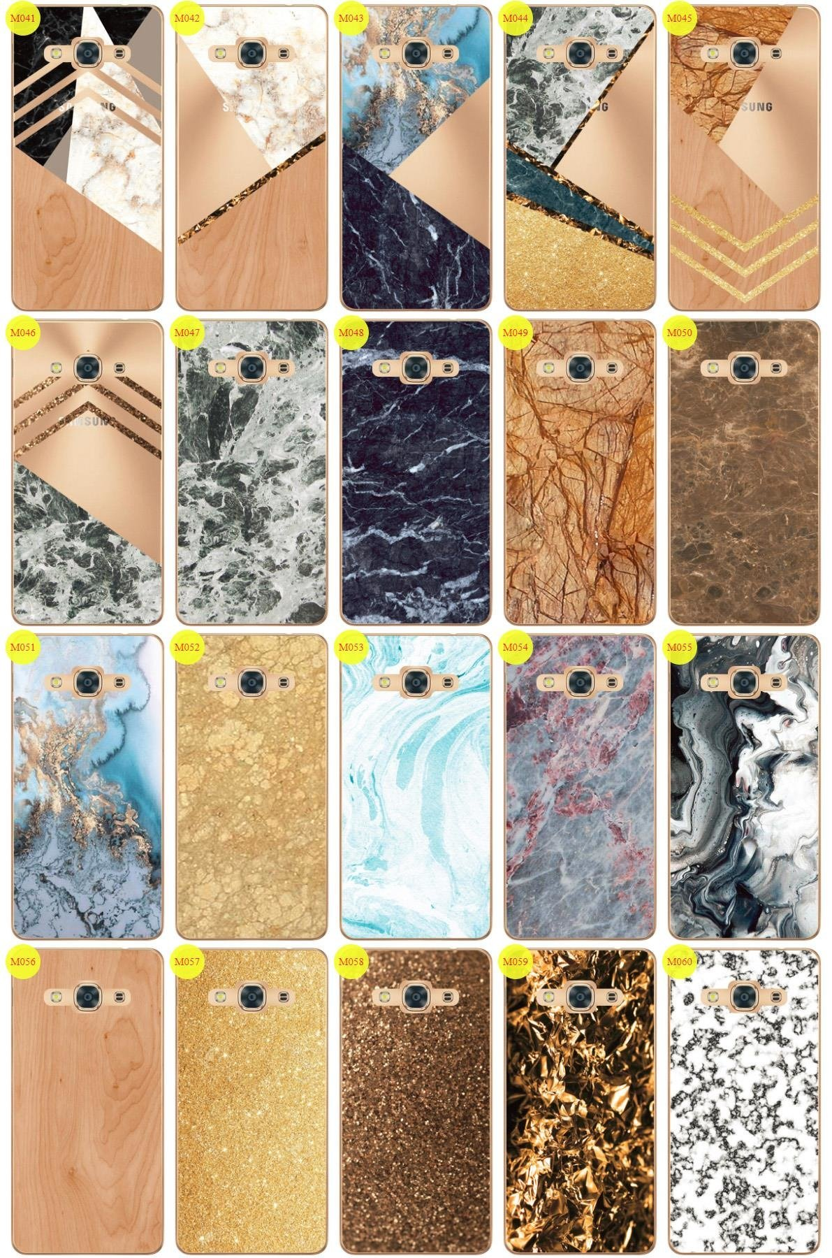 Case Cover Overprint Kreatui MARBLE SAMSUNG GALAXY J3 2017 PRO + GLASS