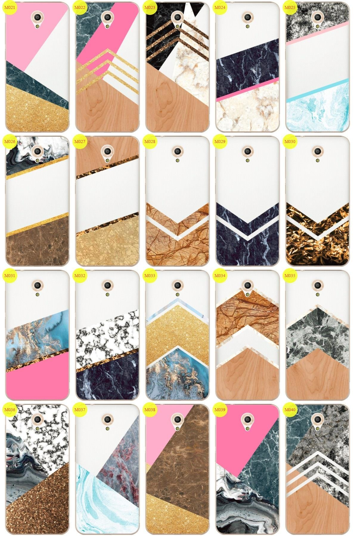 Case Cover Overprint Kreatui MARBLE VODAFONE SMART PRIME 7 + GLASS 9H