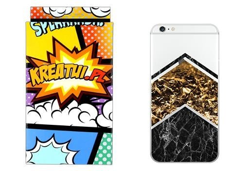 Case Cover Overprint Kreatui MARBLE ZTE BLADE V7 LITE + GLASS 9H