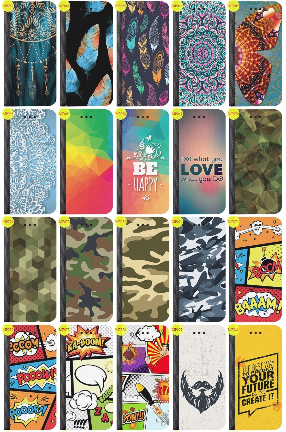 Case Cover Overprint Kreatui Magnetic Print SONY XPERIA T3