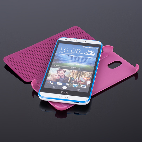 DOT VIEW FLIP CASE WALLET COVER pocketbook HTC DESIRE 620 PINK