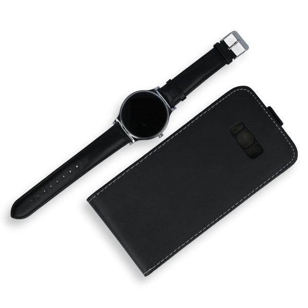 newest 6409e 067d7 FLIP CASE COVER RUBBER magnet SAMSUNG GALAXY S8 PLUS SM-G955 BLACK