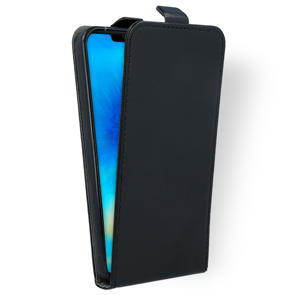 low priced 934a6 53a51 FLIP CASE COVER magnet RUBBER HUAWEI MATE 20 PRO BLACK + GLASS 9H