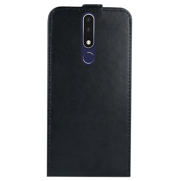 FLIP CASE COVER magnet RUBBER NOKIA 3.1 PLUS BLACK + GLASS 9H