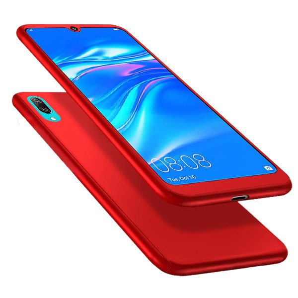 size 40 76804 9b19e FULL CASE COVER 360 CASE HUAWEI Y7 2019 / Y7 PRO 2019 RED + GLASS