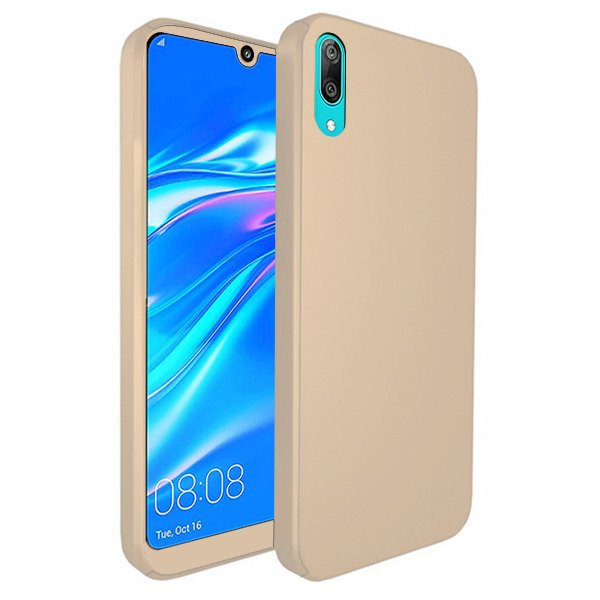 quality design 10089 0fdc6 FULL CASE COVER 360 CASE HUAWEI Y7 PRIME 2019 GOLD + GLASS