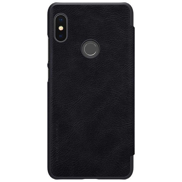 official photos e33b1 957e8 Flip case for XIAOMI REDMI NOTE 5 PRO of Nillkin series Qin black cover +  Glass 9H