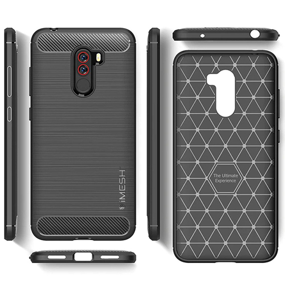 huge selection of 46735 41c73 IMESH CARBON BACK CASE COVER RUGGED XIAOMI POCOPHONE F1 BLACK