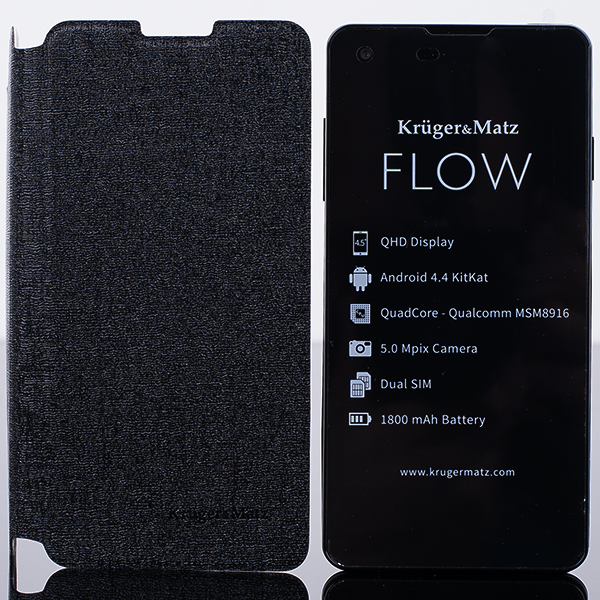 ORIGINAL WALLET FLIP CASE COVER KRUGER MATZ FLOW BLACK