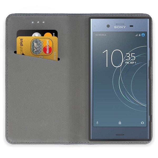 buy popular 45f9f a369e Print Case Cover Magnetic UNIQUE SONY XPERIA XZ1 + GLASS 9H