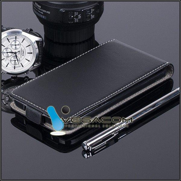 SLIM FLIP CASE COVER magnet ALCATEL ONE TOUCH IDOL 2 6037 BLACK