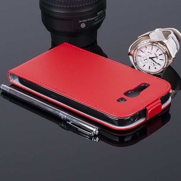 SLIM FLIP CASE COVER magnet TPU ALCATEL ONE TOUCH POP C9 RED