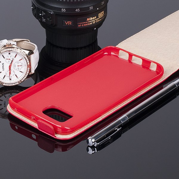SLIM FLIP CASE COVER magnet TPU SAMSUNG GALAXY S6 EDGE SM-G925 RED