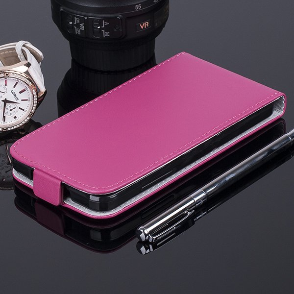 SLIM FLIP CASE COVER magnet TPU WIKO LENNY PINK