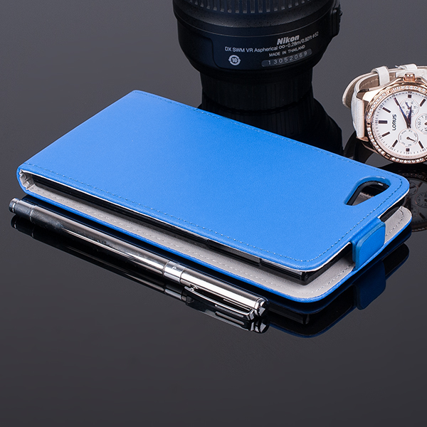 SLIM FLIP FLEX CASE COVER RUBBER magnet WIKO HIGHWAY STAR BLUE