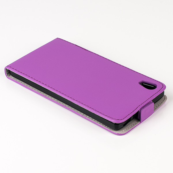 SLIM FLIP FLEX CASE COVER magnet RUBBER SONY XPERIA Z5 PURPLE