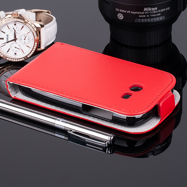 SLIM FLIP FLEX CASE COVER magnet SAMSUNG GALAXY POCKET 2 G110 RED