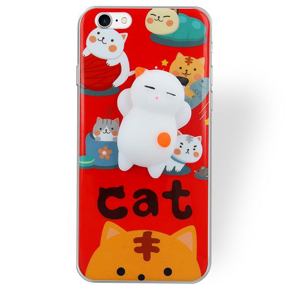 hot sales f8e6c 9c8c3 SQUISHY CASE COVER GEL RUBBER JELLY SAMSUNG GALAXY J3 SM-J300 RED CAT