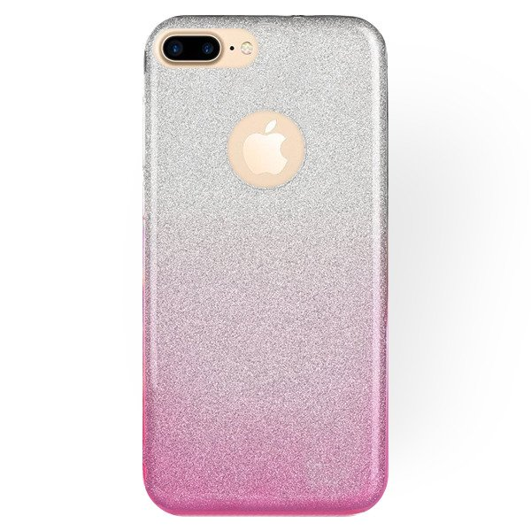premium selection 36377 b8a1e STELLA CASE COVER GLITTER BROCADE IPHONE 8 PLUS CLEAR-PINK