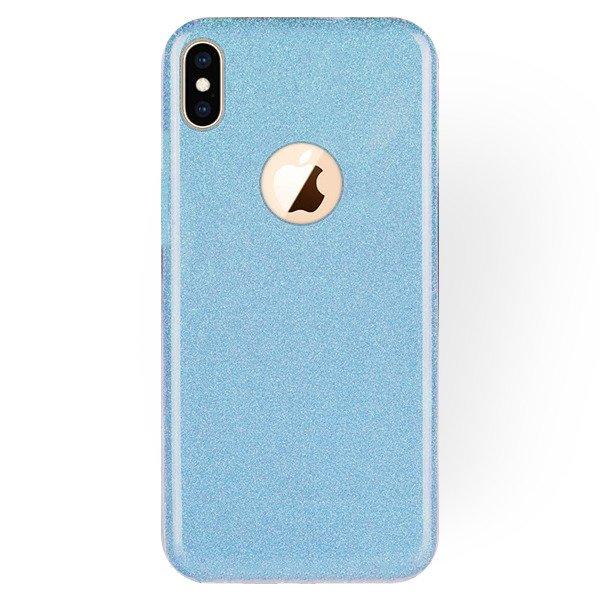 the latest 2ca16 8ef44 STELLA CASE COVER GLITTER BROCADE IPHONE XS MAX BLUE + GLASS 9H