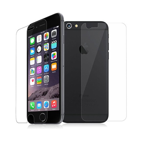 new product ef874 fb96d Tempered Glass Film Screen Protector 9H IPHONE 6 6S PLUS FRONT + BACK