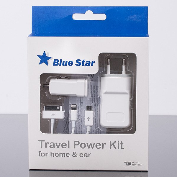 UNIVERSAL SET CHARGER HOME AND CAR 1A microUSB micro USB IPHONE 4 5