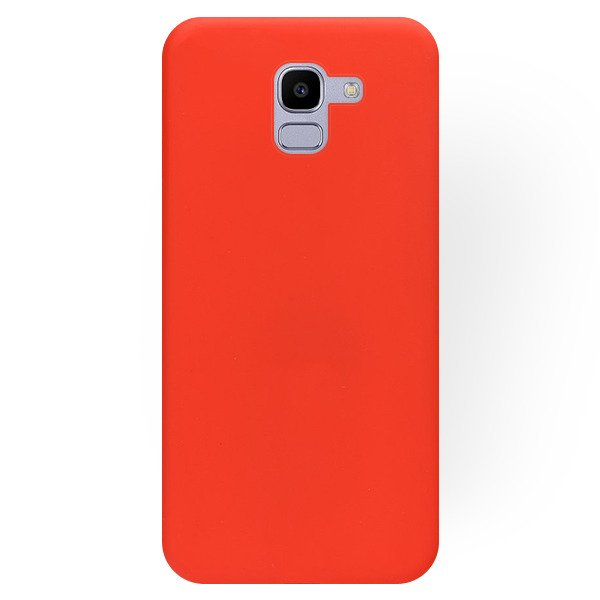buy online 59d57 12065 VELVET BACK CASE COVER MATT SAMSUNG GALAXY J6 2018 SM-J600 RED