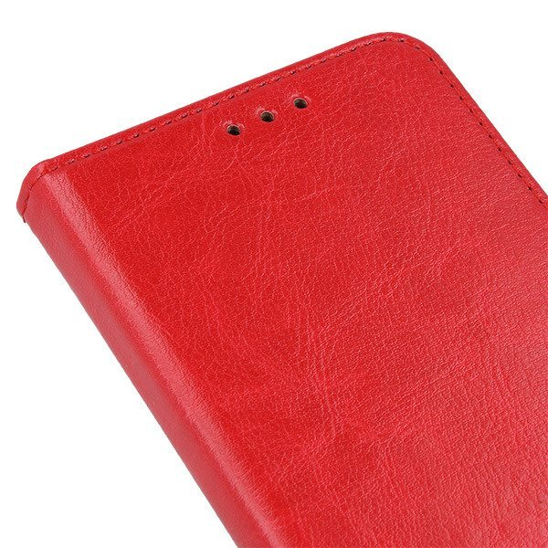 WALLET CASE COVER GENUINE LEATHER HUAWEI HONOR 7A RED + GLASS 9H