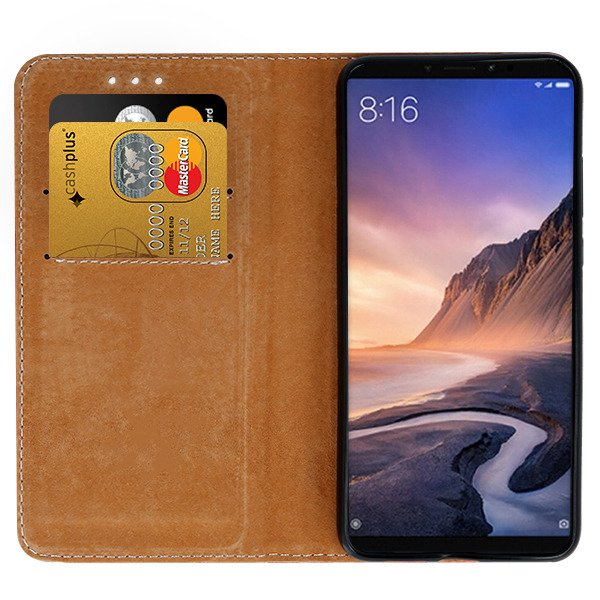 best website d3377 e8b47 WALLET CASE COVER GENUINE LEATHER XIAOMI MIMAX 3 / MI MAX 3 BLACK