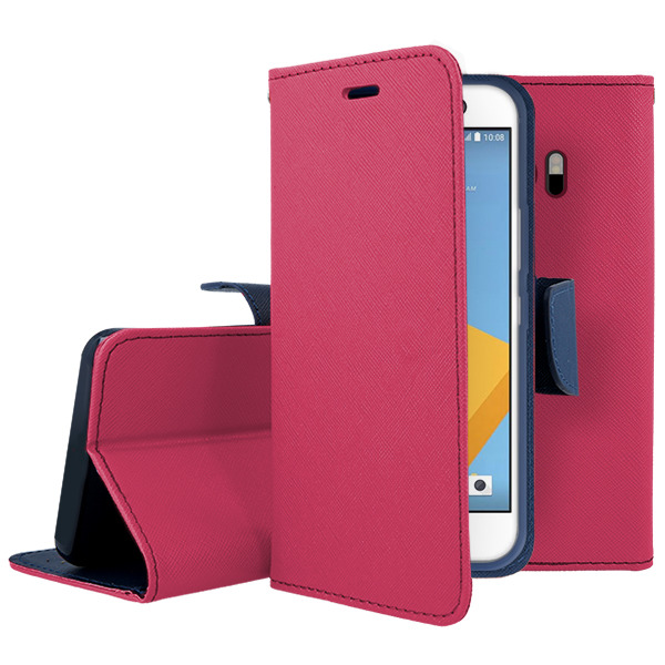 WALLET CASE COVER MAGNET HTC 10 LIFESTYLE PINK GLASS 9H 95588