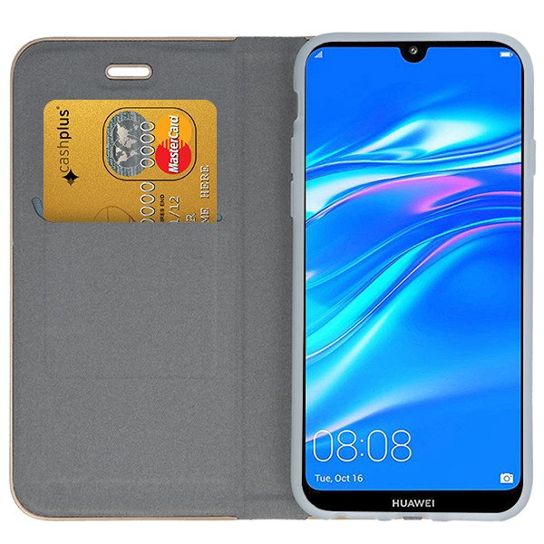 promo code 45f12 ba5a5 WALLET CASE COVER Magnetic POSH HUAWEI Y7 PRIME 2019 GRAY