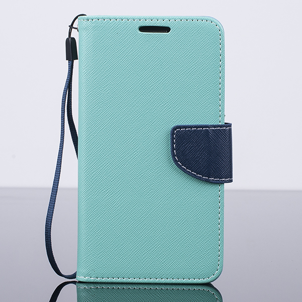 WALLET CASE COVER SAMSUNG GALAXY GRAND PRIME G530 pocketbook mint-navy