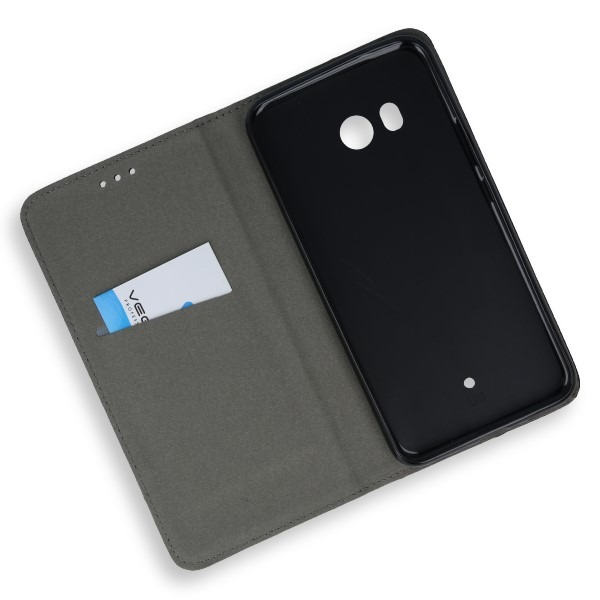 WALLET FLEX FLIP CASE COVER Magnetic SmartCase HTC U11 / U 11 BLACK