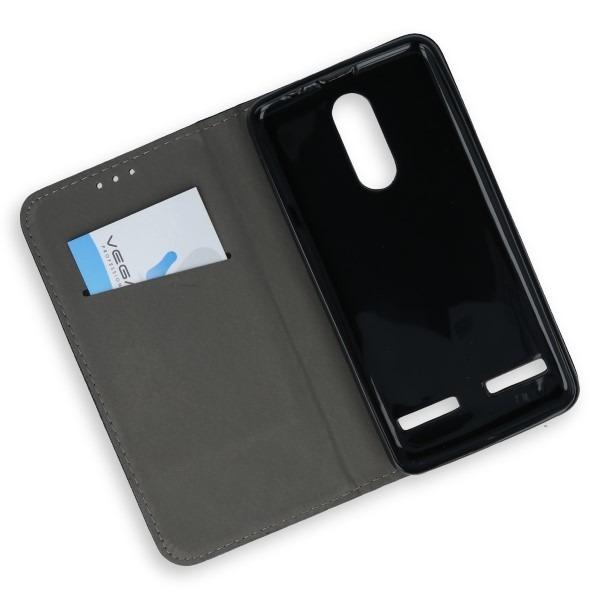 promo code 45773 a2376 WALLET FLEX FLIP CASE COVER Magnetic SmartCase LENOVO K6 POWER BLACK