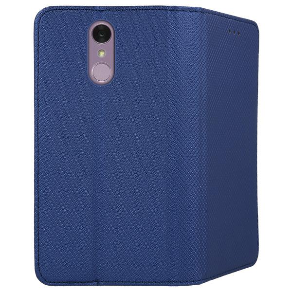 best loved 8dc56 5af18 WALLET FLEX FLIP CASE COVER Magnetic SmartCase LG Q7 NAVY