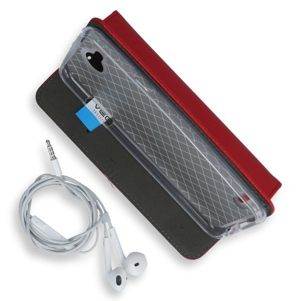 WALLET FLEX FLIP CASE COVER Magnetic SmartCase LG X POWER 2 RED