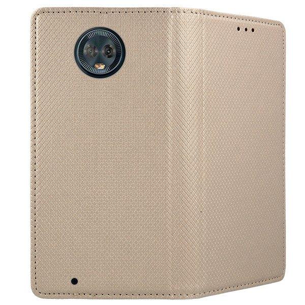 premium selection 477aa 8d86d WALLET FLEX FLIP CASE Magnetic SmartCase MOTOROLA MOTO G6 GOLD
