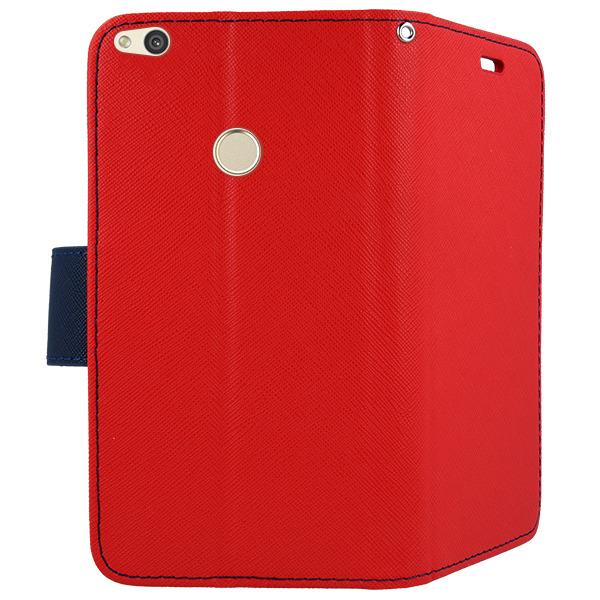 buy online c93df bae14 WALLET FLIP CASE COVER MAGNET pocketbook HUAWEI HONOR 8 LITE RED
