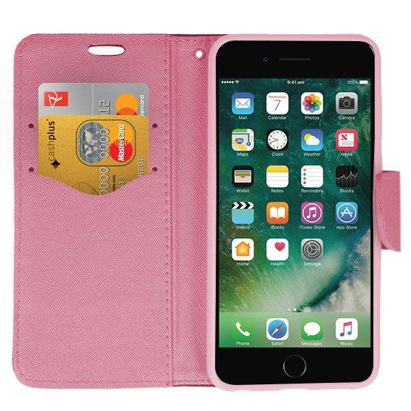 huge discount 7eca9 69e7d WALLET FLIP CASE COVER MAGNET pocketbook IPHONE 7 4.7 BLACK PINK