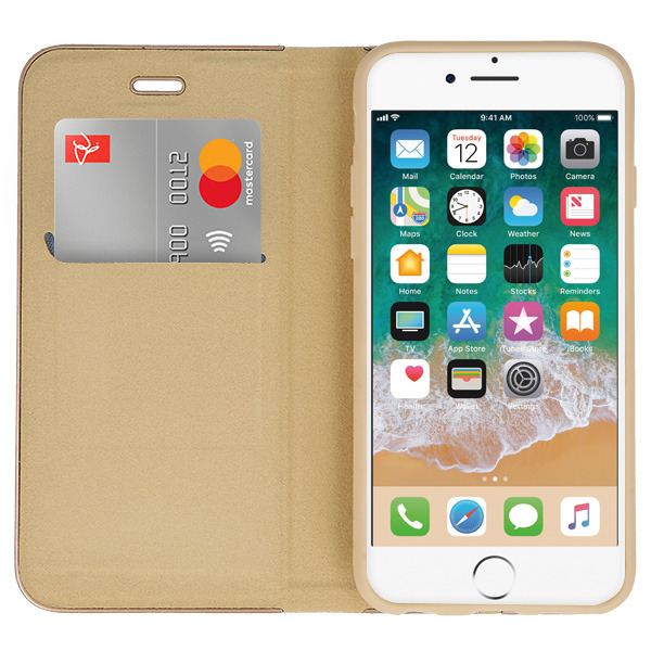 WALLET FLIP CASE COVER Magnetic POSH HUAWEI HONOR 8 LITE GOLD