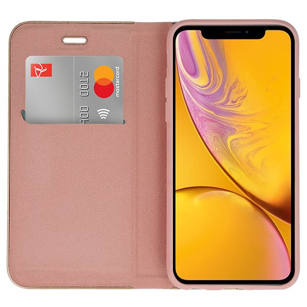low priced 7c08c 29cc5 WALLET FLIP CASE COVER Magnetic POSH IPHONE XR PINK-GOLD