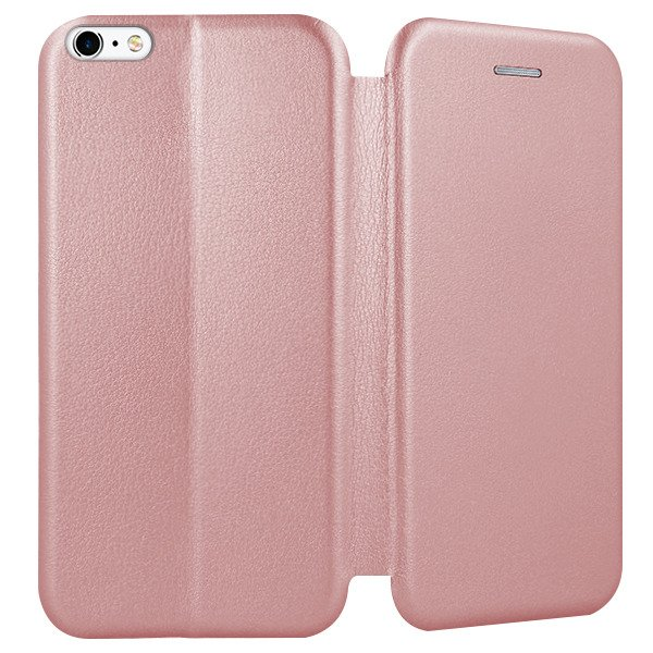 new concept aa562 dd38f WALLET FLIP CASE COVER Magnetic PRESTIGE IPHONE 6 6S PINK-GOLD + GLASS