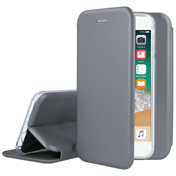 WALLET FLIP CASE COVER Magnetic PRESTIGE IPHONE 6 6S STEEL