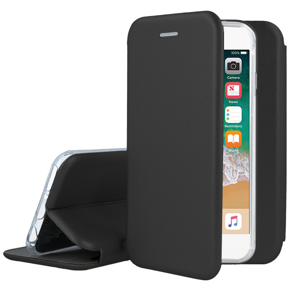 WALLET FLIP CASE COVER Magnetic PRESTIGE IPHONE 7 4.7 BLACK