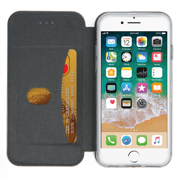 WALLET FLIP CASE COVER Magnetic PRESTIGE IPHONE X GOLD